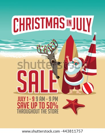 christmas in july flyer
