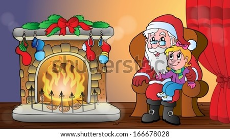 Christmas indoor theme 6 - eps10 vector illustration. - stock vector