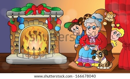 Christmas indoor theme 7 - eps10 vector illustration. - stock vector