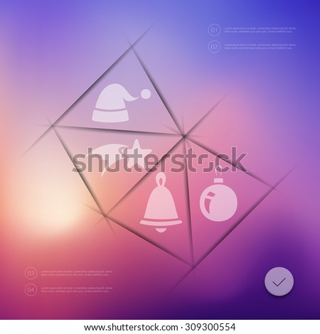 Christmas infographic with unfocused background - stock vector