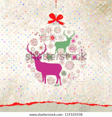 Christmas Invitation card template. And also includes EPS 8 vector - stock vector