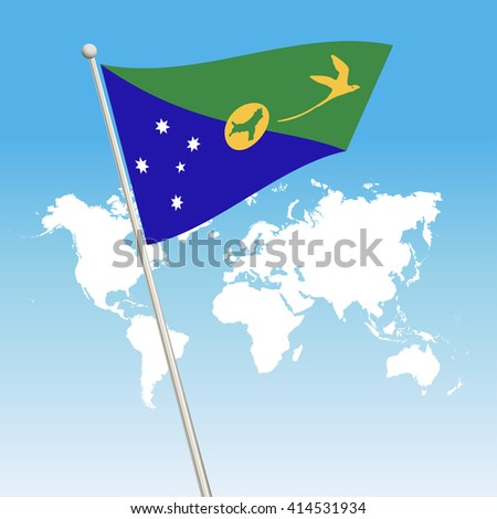Christmas island Flag. waving flag