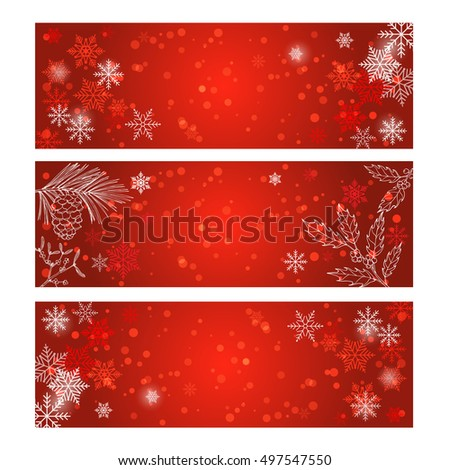 Christmas label on winter background. Vector illustration