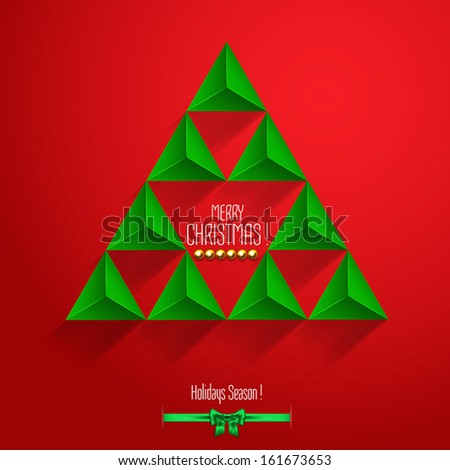 Christmas  label with holidays greeting. Vector