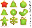 Christmas labels/badges. Vector set of christmas elements . - stock vector