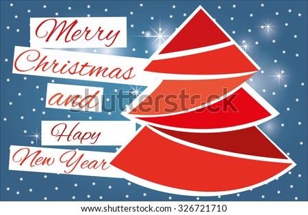 Christmas Landscape Card Massage Stock Vector 326721710 - Shutterstock