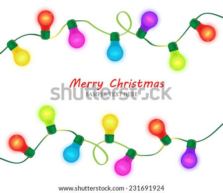 Christmas light on dark background - stock vector