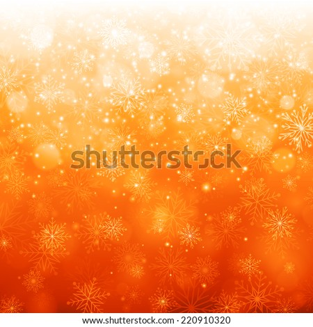 Christmas light with snowflakes. Vector background - stock vector