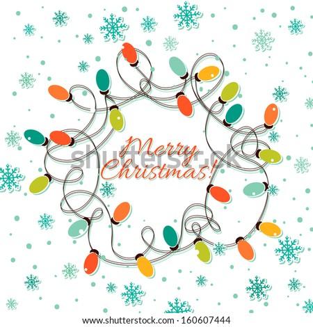 Christmas lights - stock vector