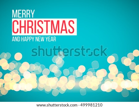 Christmas lights, holiday background. Vector image.
