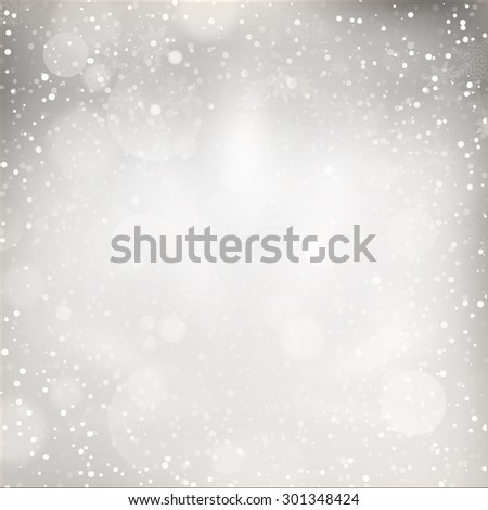 Christmas Lights on grey background. EPS 10 vector file included - stock vector