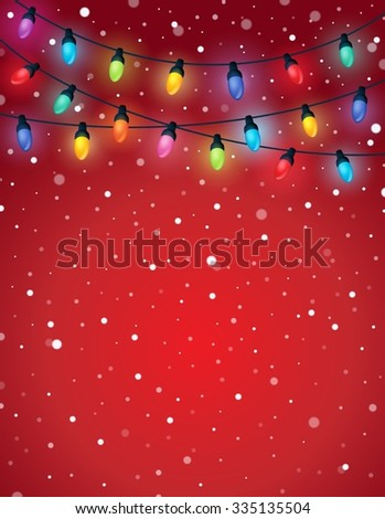 Christmas lights theme image 5 - eps10 vector illustration. - stock vector
