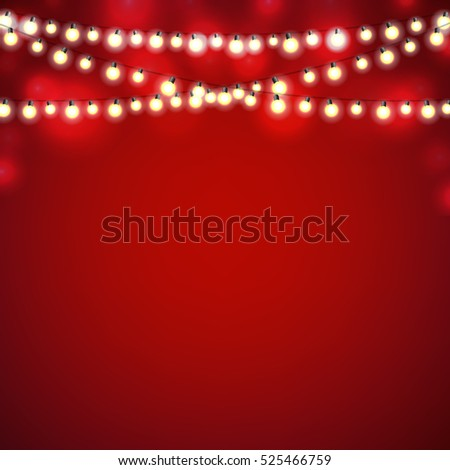 christmas lights with gradient mesh vector illustration