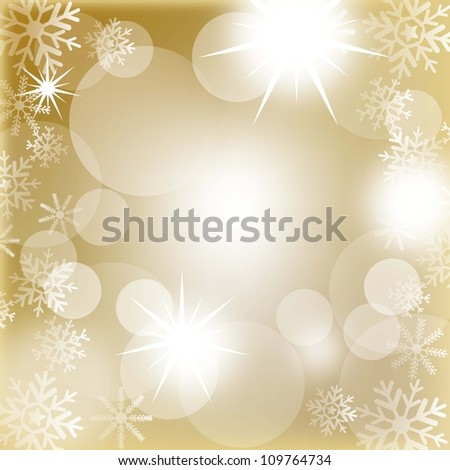 christmas lights with snowflakes background. vector illustration - stock vector