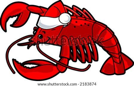 Christmas Lobster Stock Vector 2183874 - Shutterstock