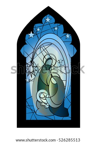 Stained Glass Nativity Stock Images Royalty Free Images