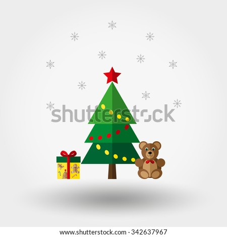 Christmas. New Year. Icon for web and mobile application. Vector illustration on a white background. Flat design style.