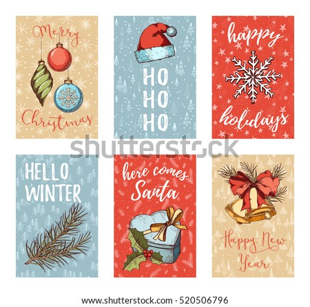 Christmas new year noel greeting card stock photo photo vector christmas new year noel greeting card posters flyers brochures invitation stopboris Gallery