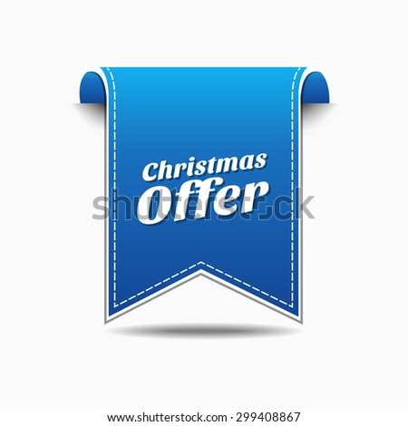 Christmas Offer Blue Vector Icon Design