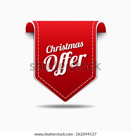 Christmas Offer Red Vector Icon Design
