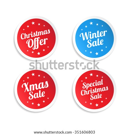 Christmas Offer Stickers