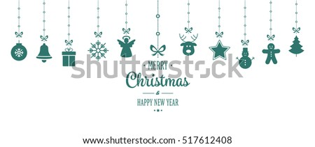 christmas ornament hanging green white background