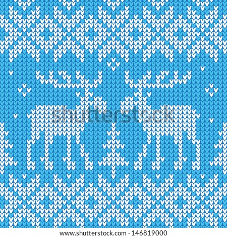 Christmas ornament: Sweater with deers  - stock vector
