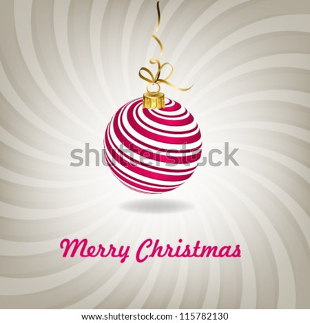 Christmas ornament vector background. - stock vector