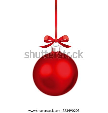 christmas ornament red ribbon vector illustration stock vector hd rh shutterstock com christmas ornament vector clipart christmas ornament vector free download