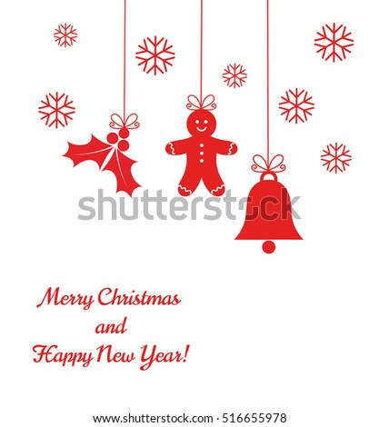 Christmas ornaments background. Vector illustration