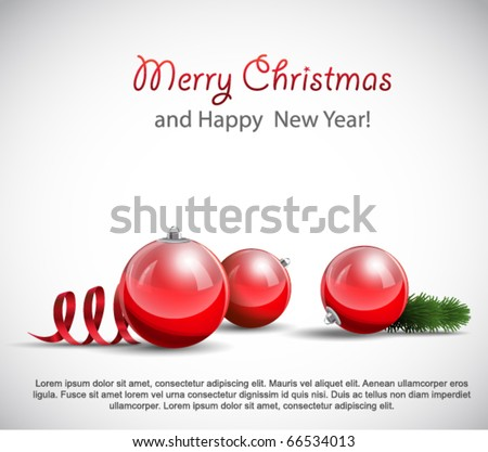 Christmas Ornaments on white. - stock vector