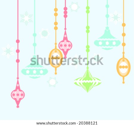 christmas ornaments (vector)