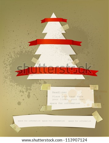 Christmas paper background set - stock vector