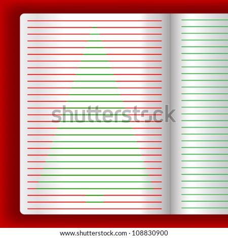 Christmas paper letter, Vector EPS10 - stock vector