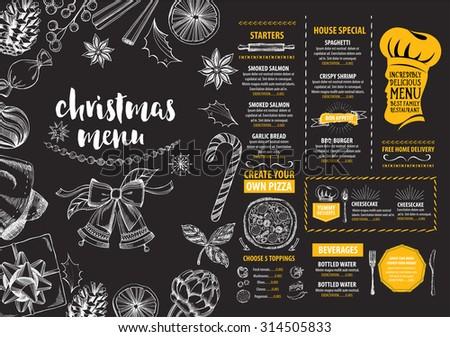 Christmas party invitation restaurant menu design stock vector hd christmas party invitation restaurant menu design vector template with graphic stopboris Images