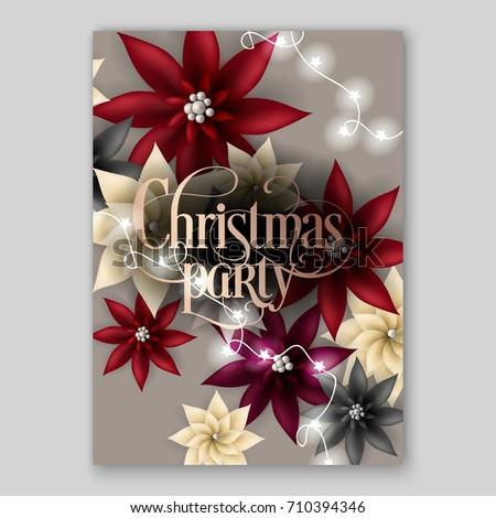 Christmas Party Invitation Big Paper Vector Stock Vector 710394346
