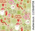 Christmas pattern - stock vector