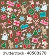 christmas pattern - stock photo