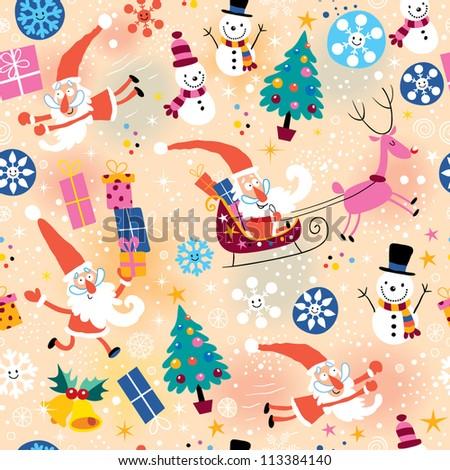 Christmas pattern - stock vector