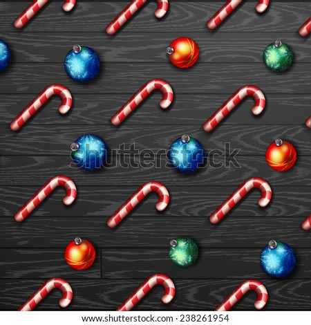 Christmas  pattern christmas candies background  - stock vector