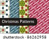 Christmas patterns - stock vector