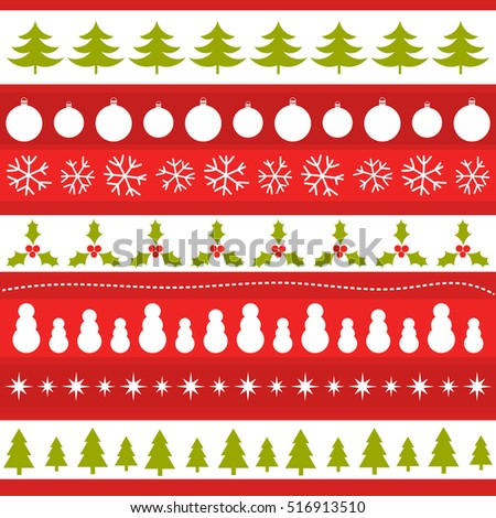 Christmas patterns background. Vector illustration