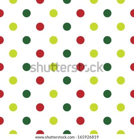 Christmas Polka Dot Background Red Green Stock Vector 165926819 ...