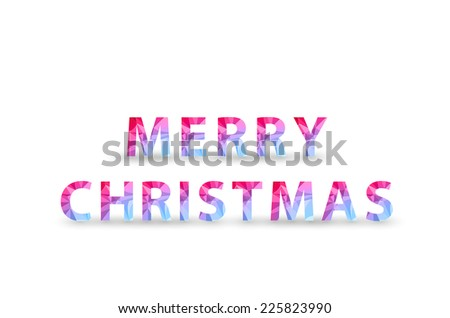 Christmas Polygon Tag, easy all editable - stock vector