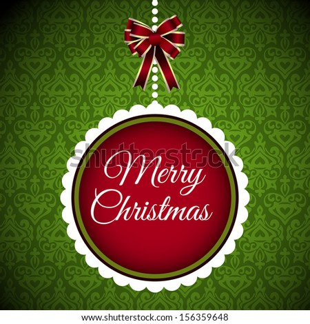 Christmas postacrd merry christmas banner  vector - stock vector