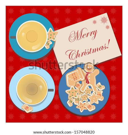 Christmas postcard. EPS 10 - stock vector