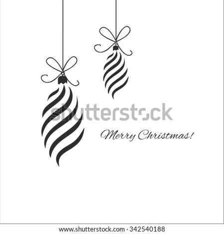 Christmas postcard with christmas decoration - stock vector