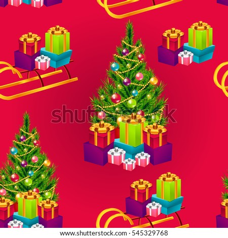 Christmas poster holiday background