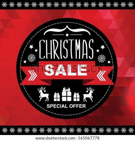 Christmas Poster Sale.Typography.Vector illustration.