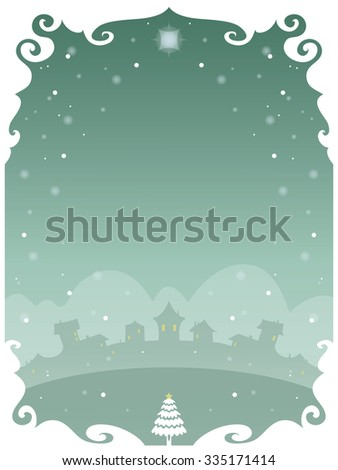 Christmas poster with space to include text in editable vector file - stock vector